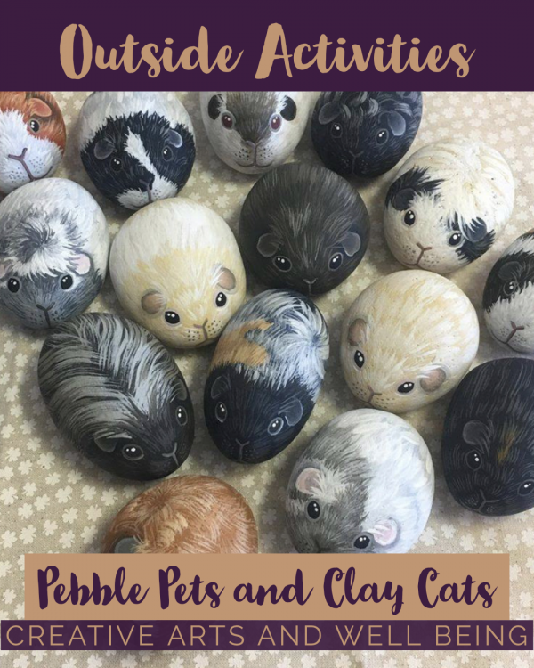 How to Make Cute Clay Cats and Pebble Pets