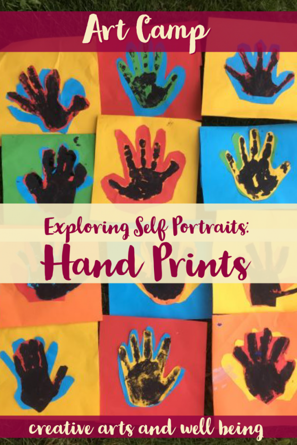 Self Portraits – How to Make Hand Print Art