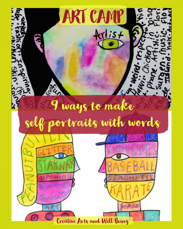 Self Portraits – How to Make Self Portraits with Words & Pictures