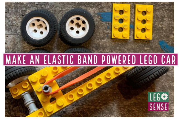 Elastic Band Lego Cars