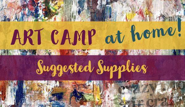 Art Camp – Materials List