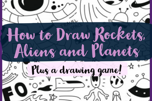 How to Draw Awesome Rockets, Aliens and Planets