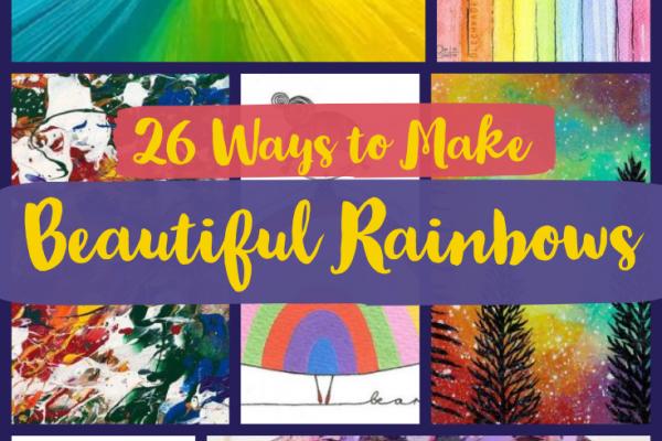 How to Make Beautiful Rainbow Art – 26 Ideas