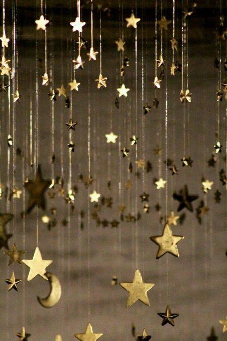 hanging gold stars