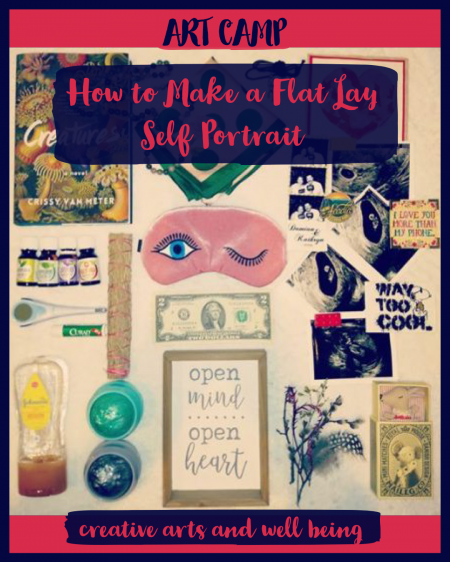 how to make a flat lay portrait