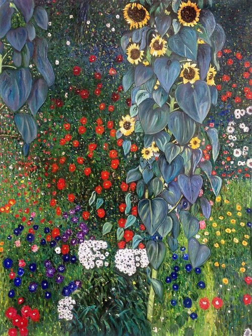 Klimt - Farm Garden with Sunflowers