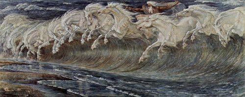 Walter Crane - Neptune's Horses, 1892