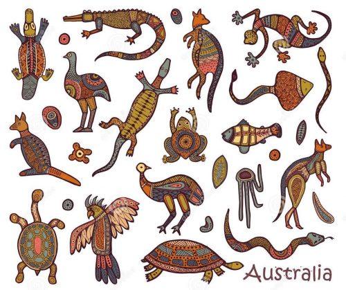 animals-australia-sketches-style-australian-aborigines-drawings-aboriginal-109743096