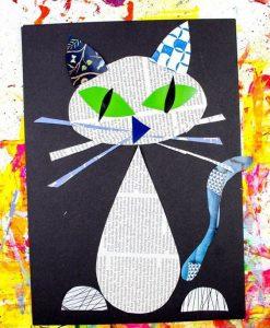 newspaper cat