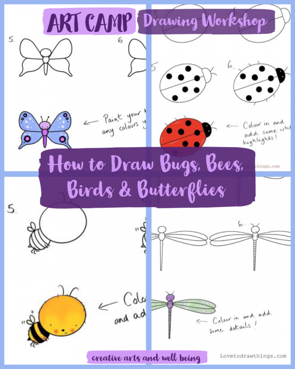 How to Draw Lovely Bugs, Bees, Birds and Butterflies