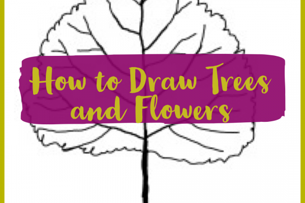 In the Garden – How to Draw Trees and Flowers