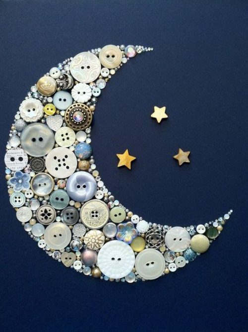button crescent moon