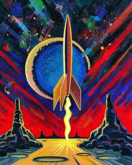 Peter Thorpe Rocket Illustration