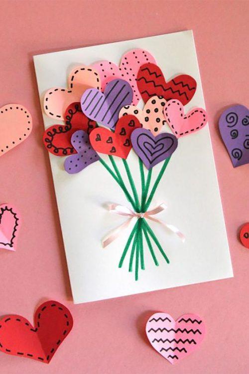 Heart Flower Gift Card