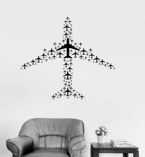 symmetrical plane shape art