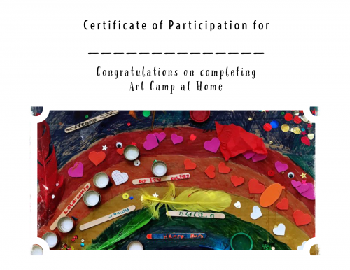 Art Camp Certificate