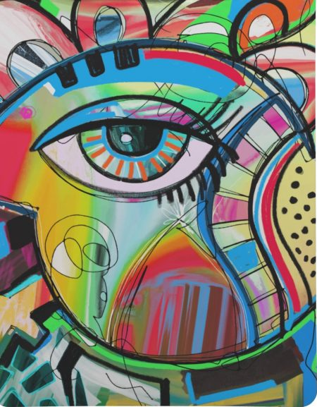 Abstract-Eye-Painting-Clipboard-Letter