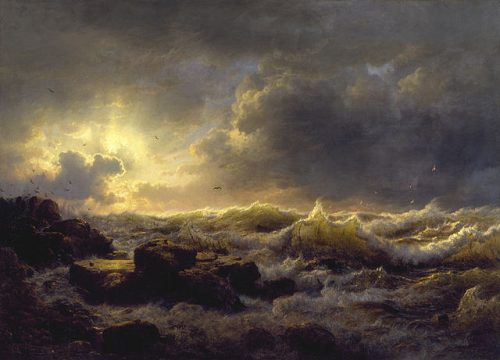 Andreas Achenbach (1815-1910), Clearing up – Coast of Sicily, 1847