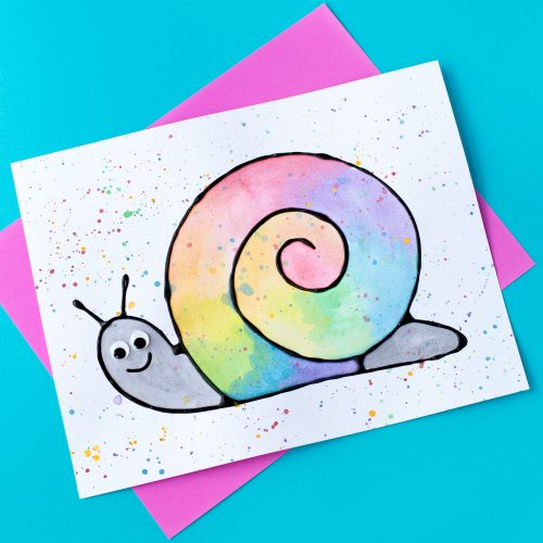 Black-Glue-and-Watercolor-Snail-Art-6