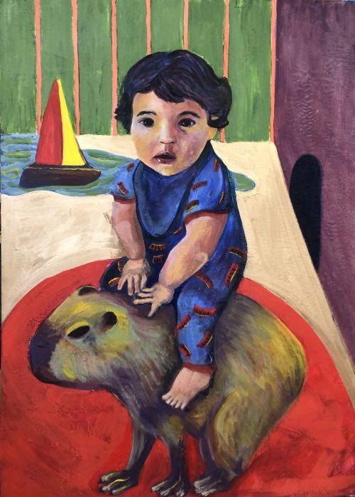 Darcy L Hildebidle - Boy and Capybara