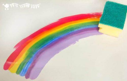 Rainbow-Sponge-Painting