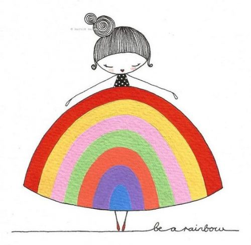 Marnie Makes Rainbow Dress