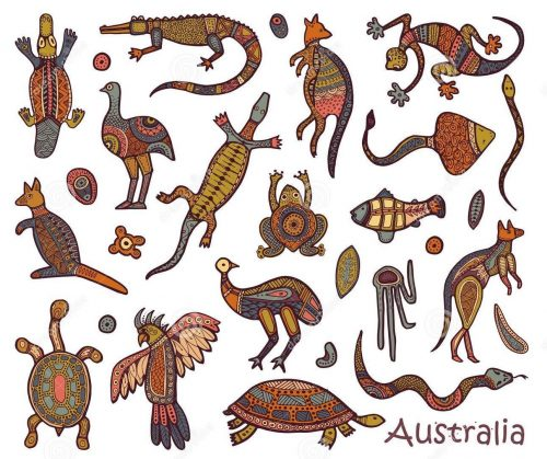 animals-australia-sketches-style-australian-aborigines-drawings-aboriginal-109743096