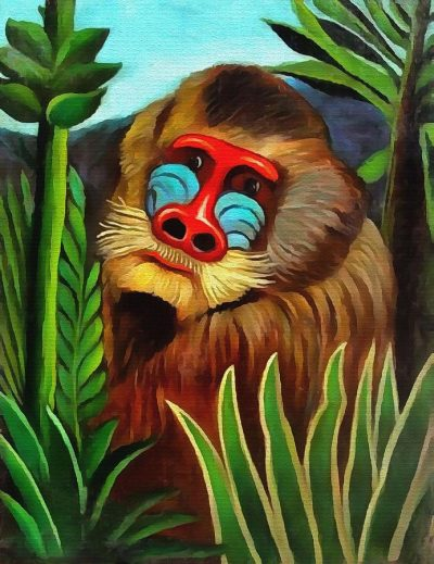 baboon Henri Rousseau