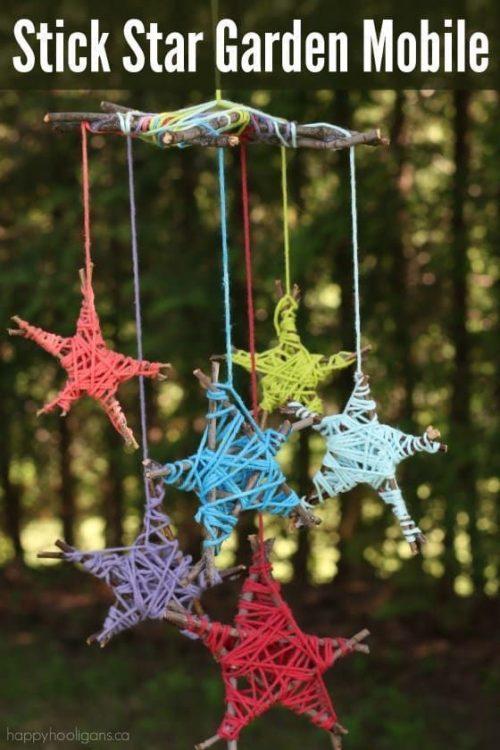 hanging stick stars