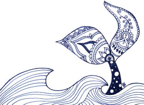mermaid tail doodle