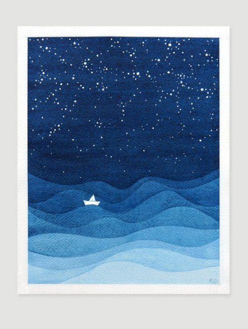 paper seascape